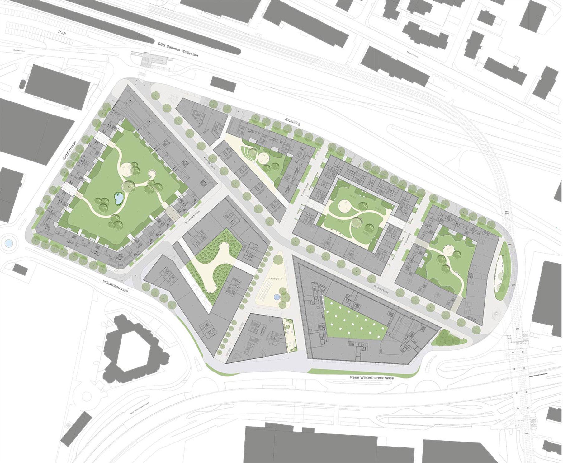 Planimetria Quartiere Richti, Wallisellen