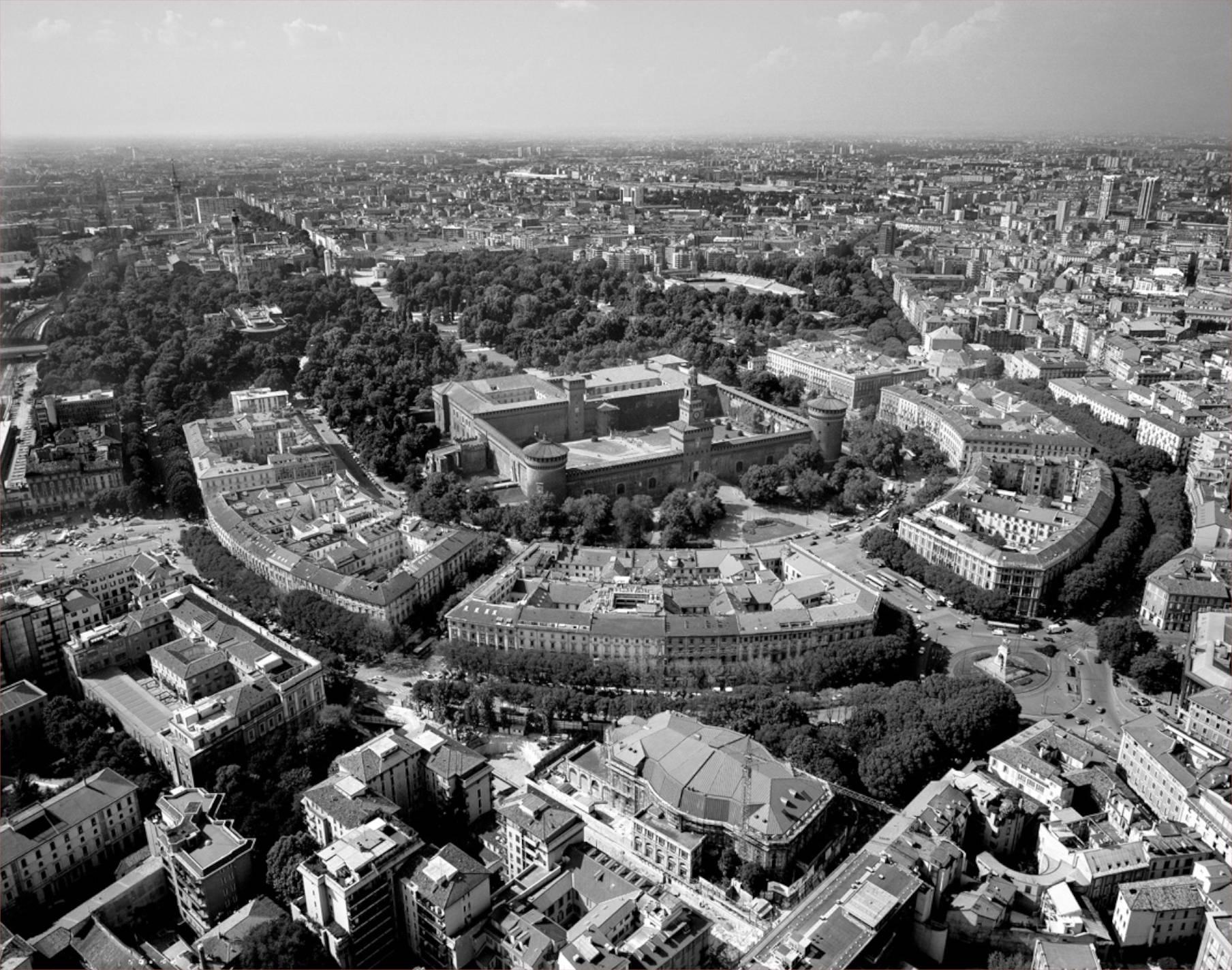 Veduta aerea Foro Bonaparte Milano