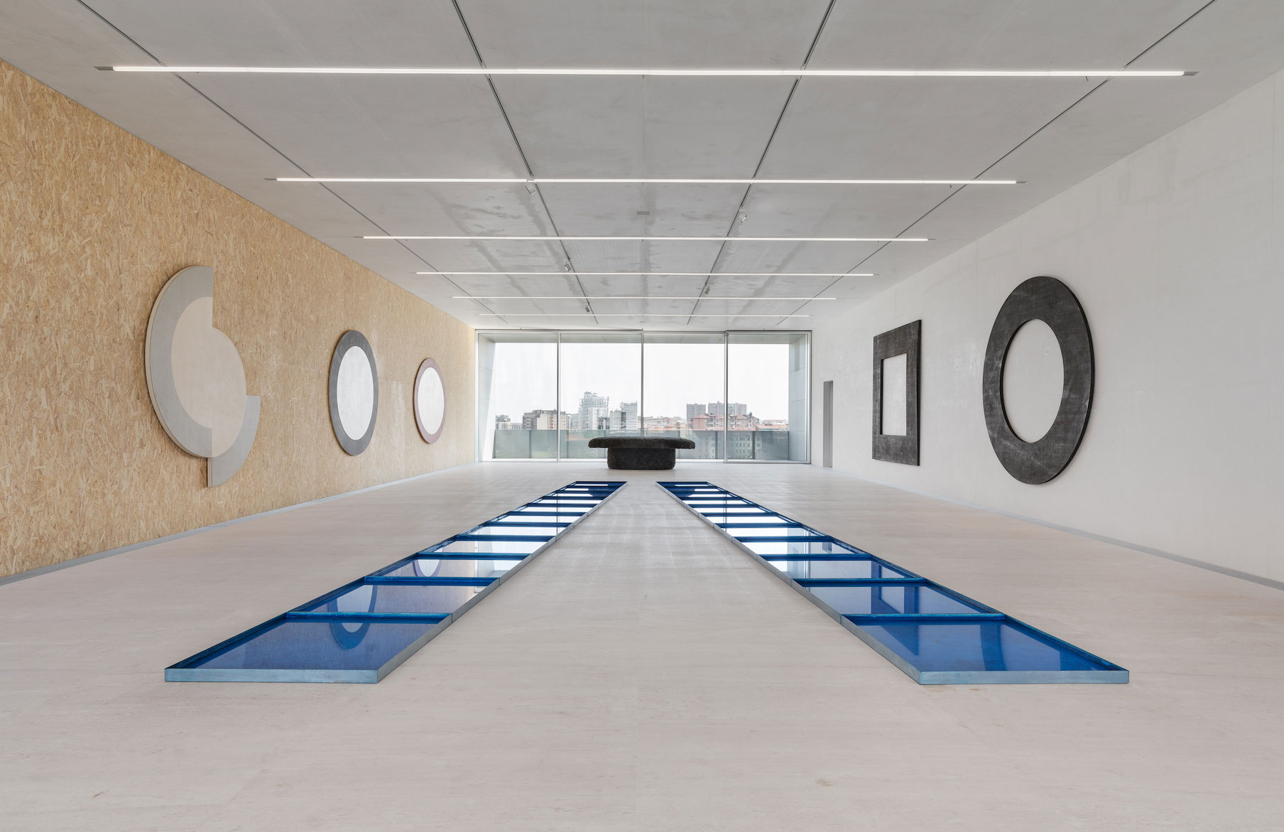 Interno sale Torre Fondazione Prada
