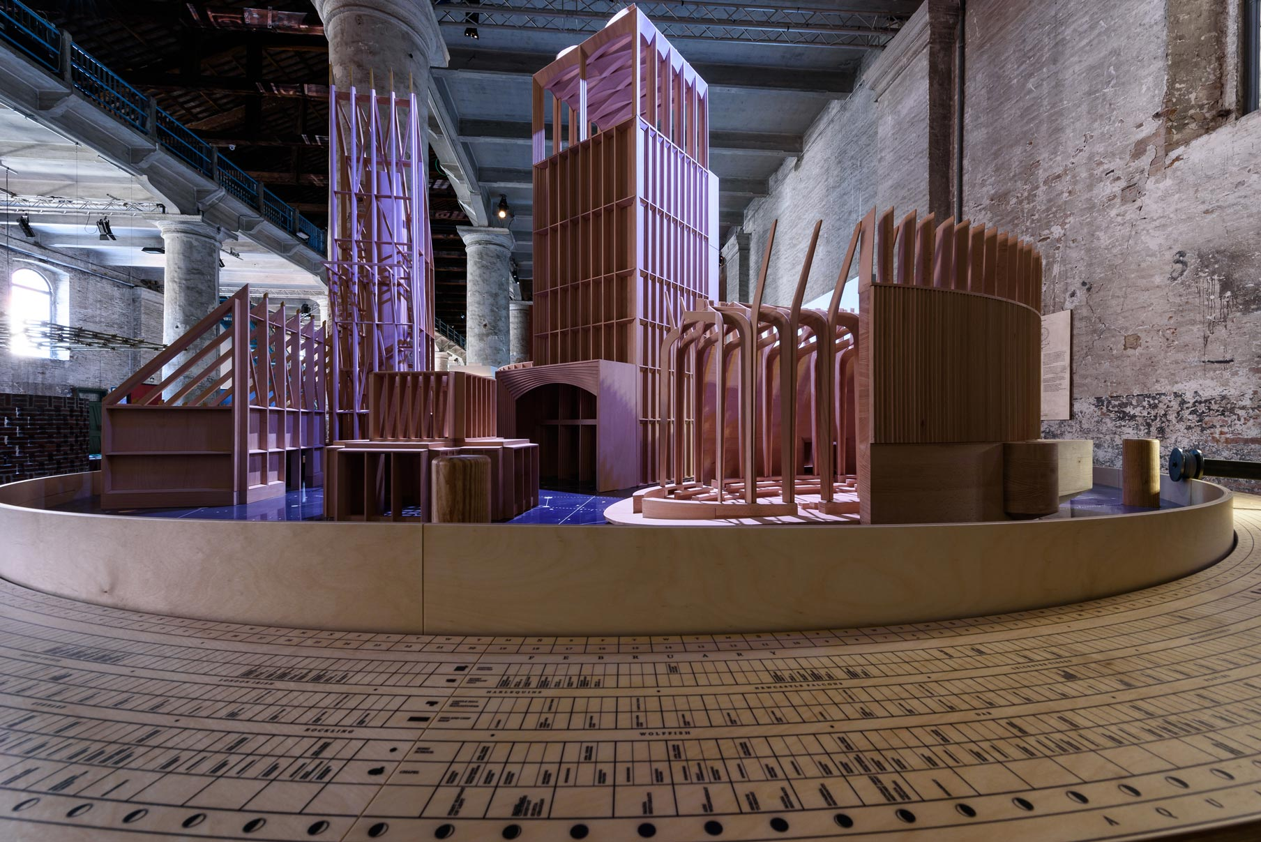 Níall McLaughlin Architects, Presences, Plastici in legno