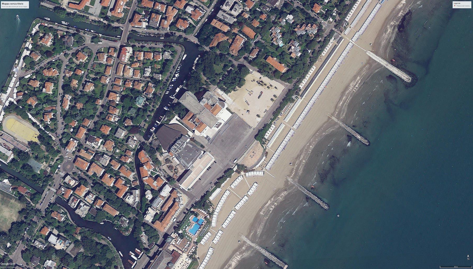 Vista satellitare Piazza Cinema Venezia