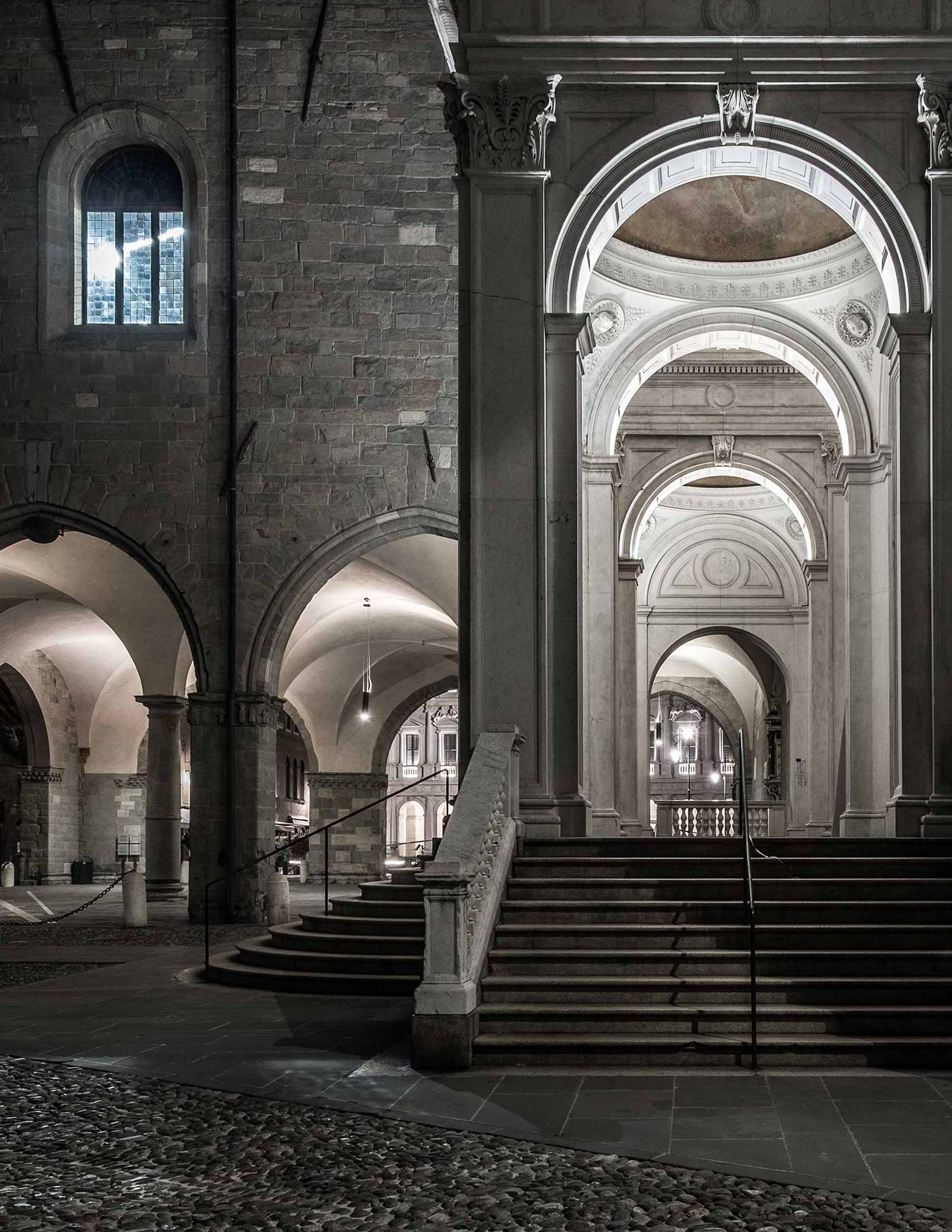 Scalone Palazzo della Ragione Bergamo
