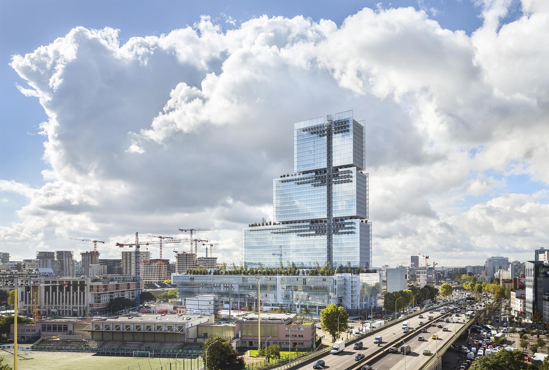Tribunale visto dal Boulevard Périphérique Renzo Piano