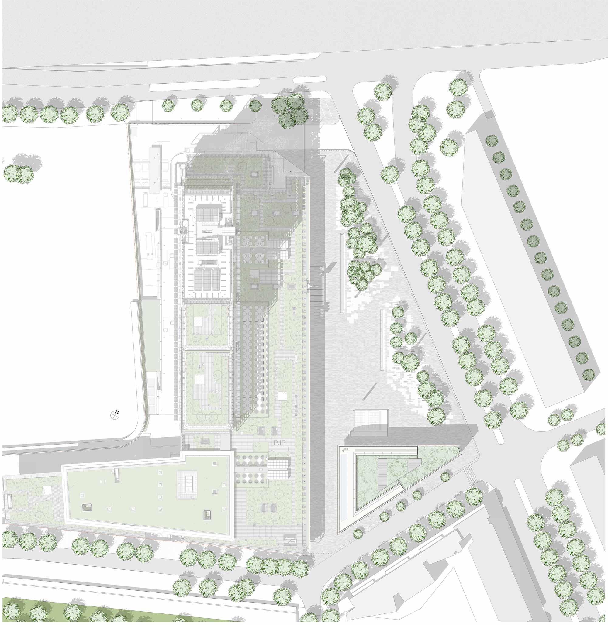 Planivolumetrico Tribunale Parigi Renzo Piano