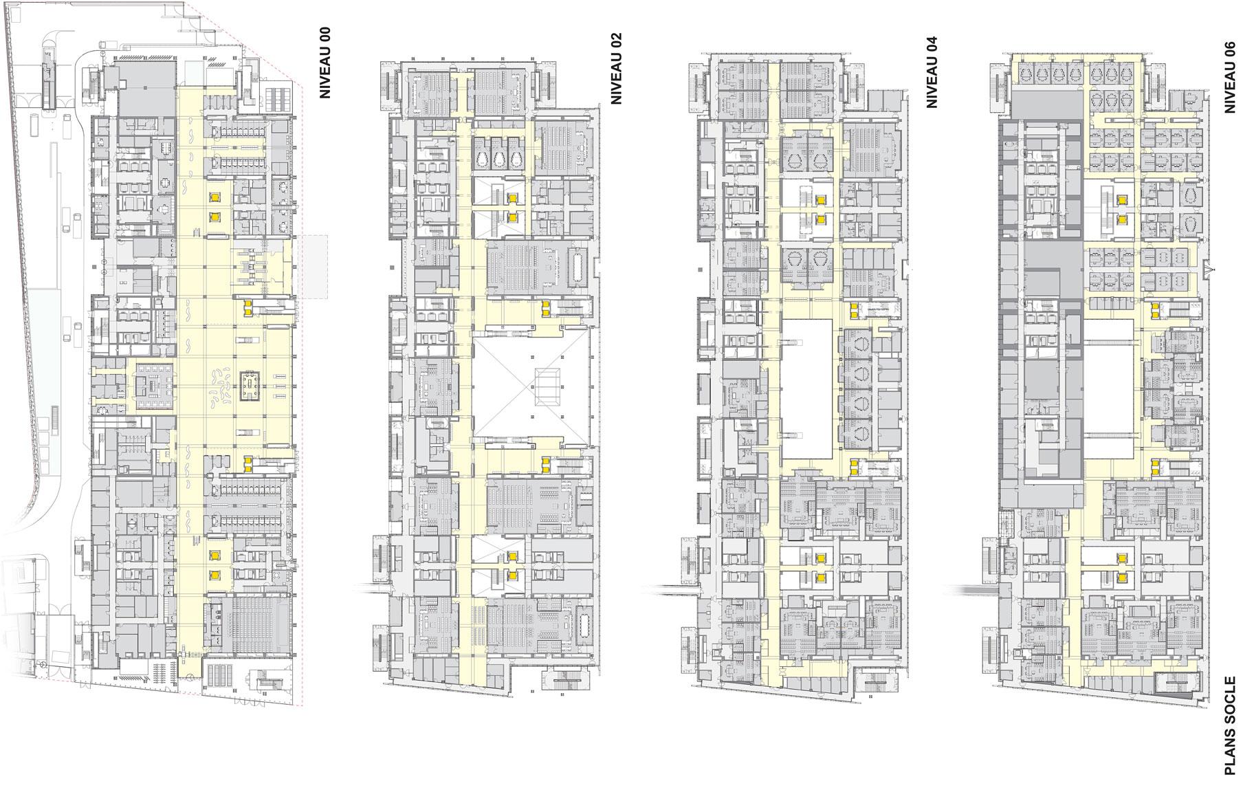 Piante Tribunale Parigi Renzo Piano