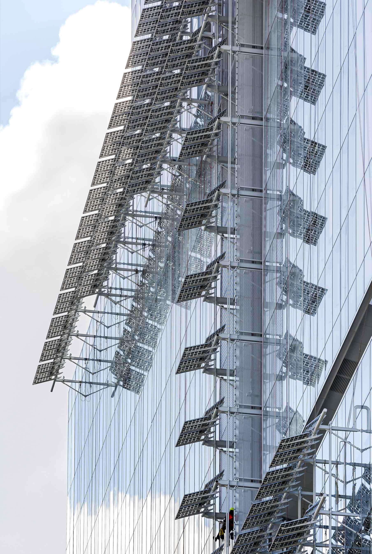 Facciata pannelli Tribunale Parigi Renzo Piano