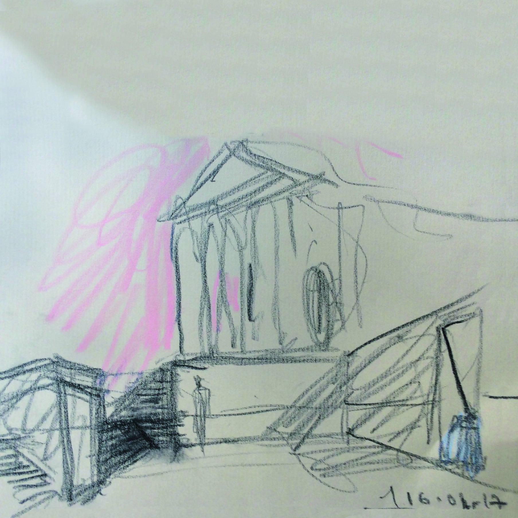 Schizzo progetto piazza Duomo Treviso