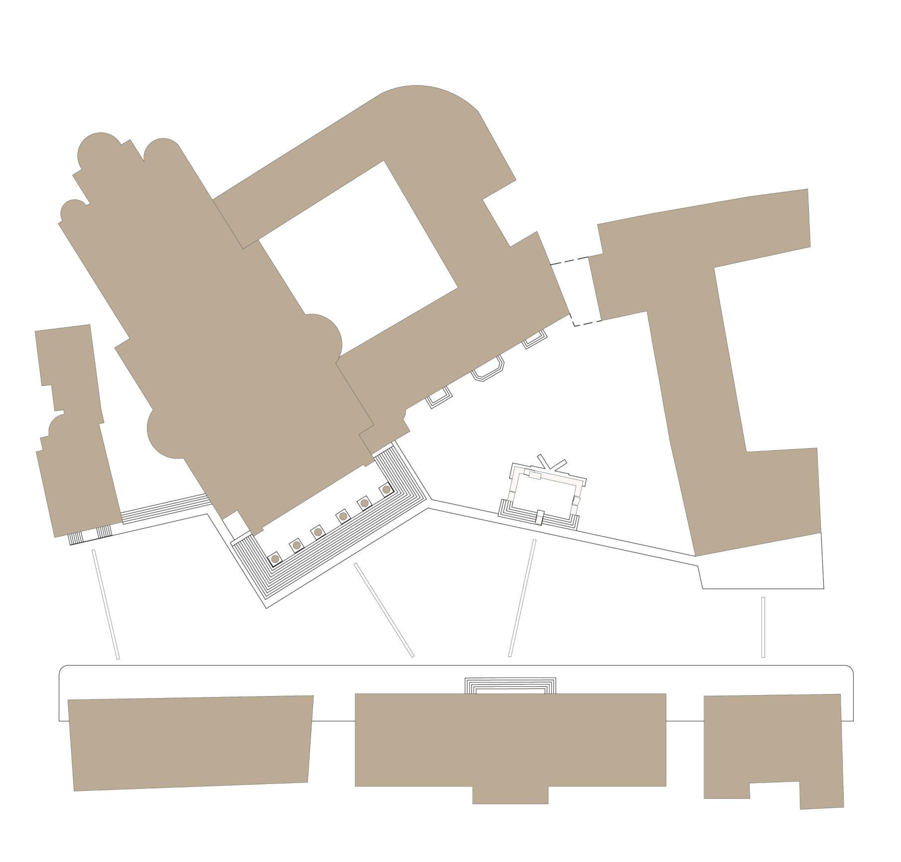 Planimetria progetto piazza Duomo Treviso