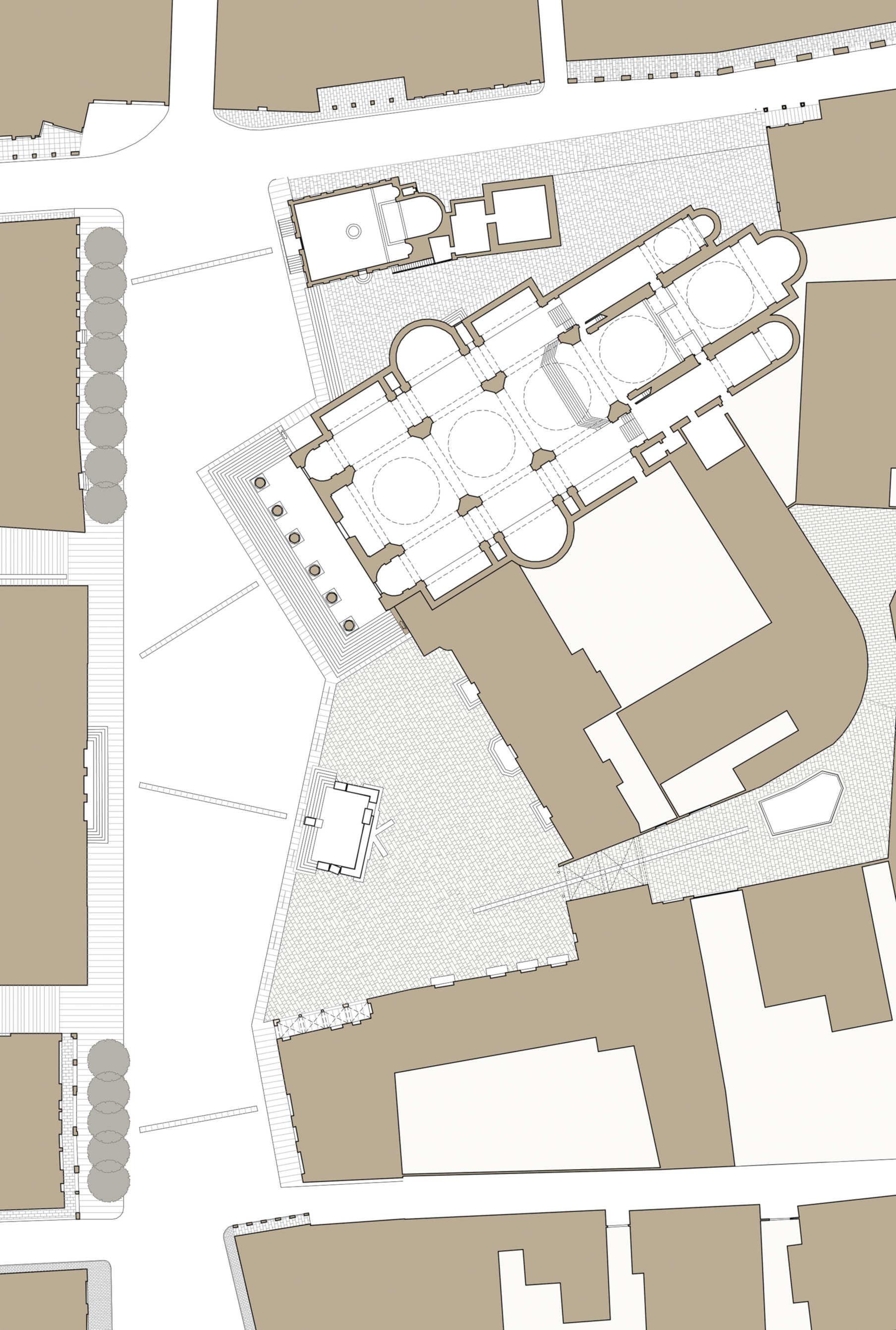 Planimetria d'insieme piazza Duomo Treviso