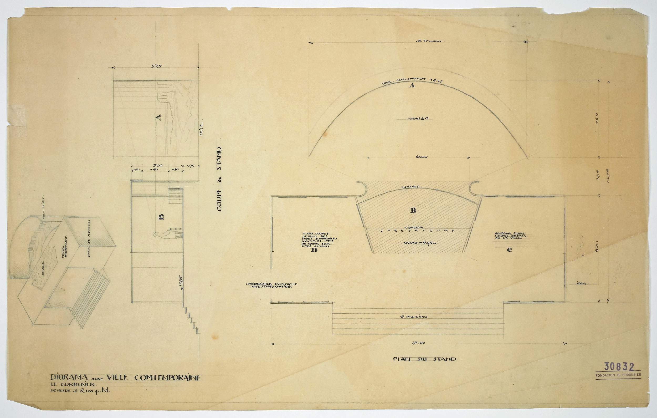 Progetto dello stand per il Salone d'automne del 1922