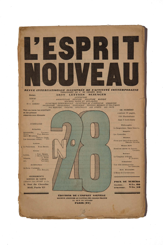 Copertina del n. 28 de L'Esprit Nouveau