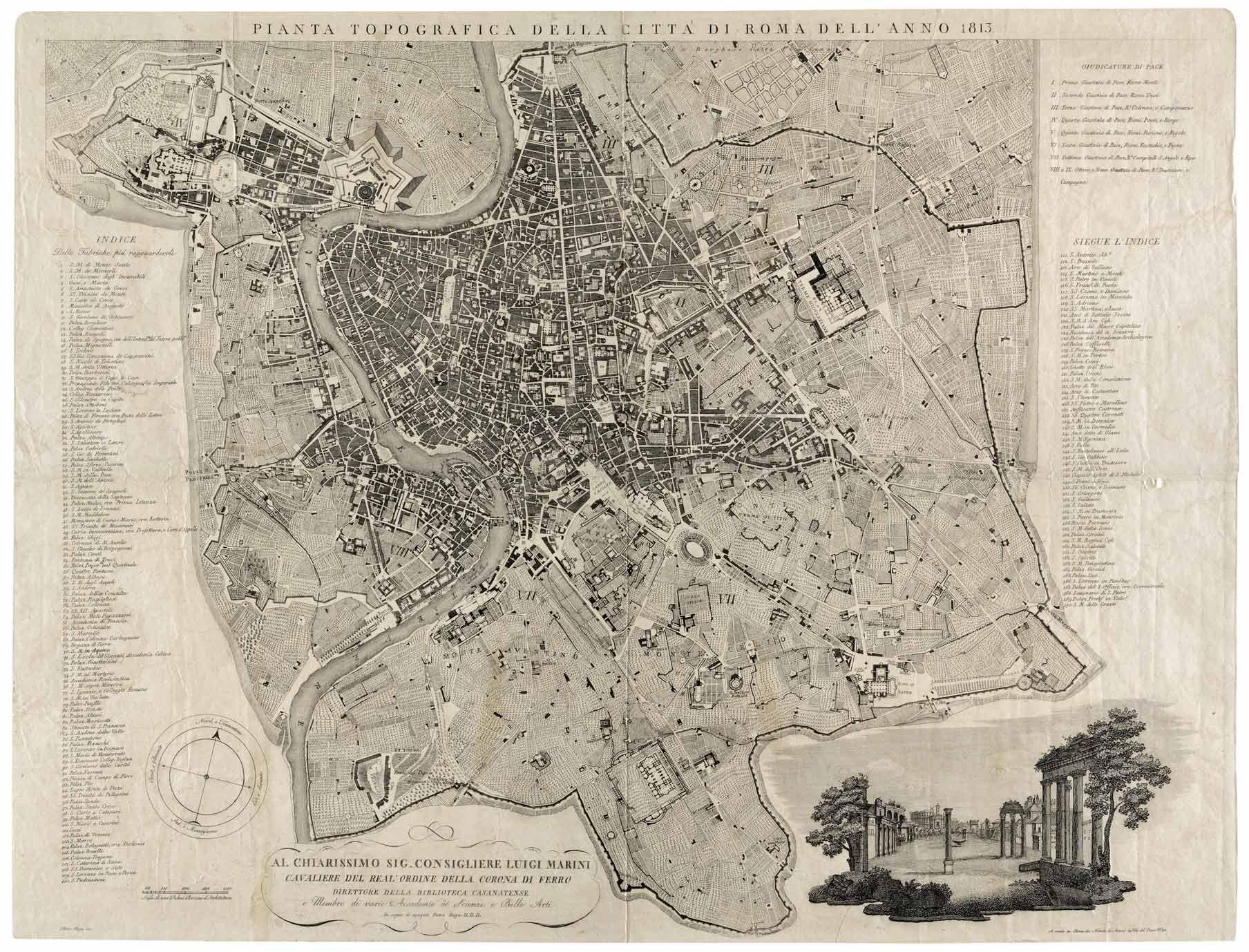 Pianta topografica della città di Roma,