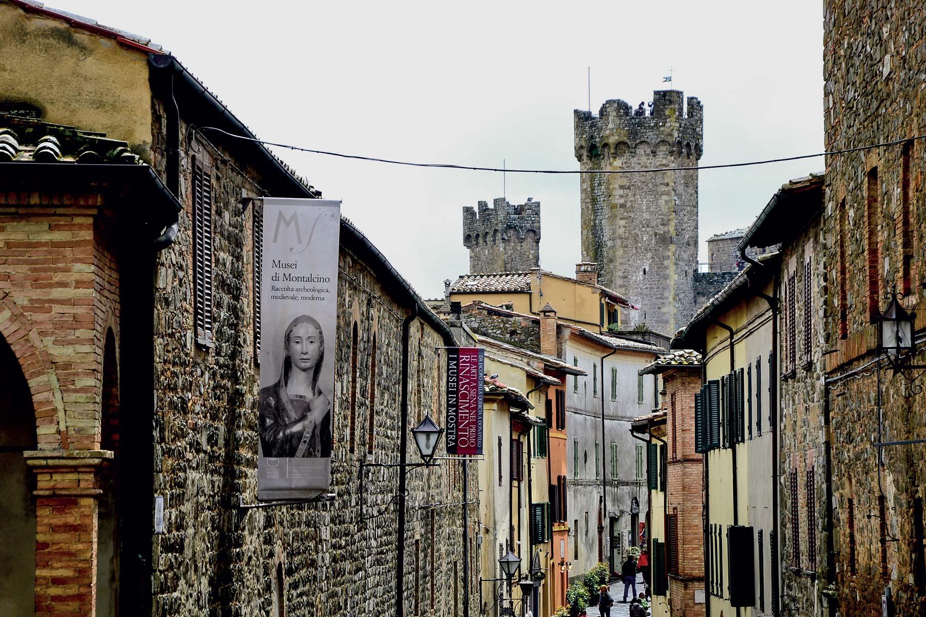 Montalcino borgo centro storico