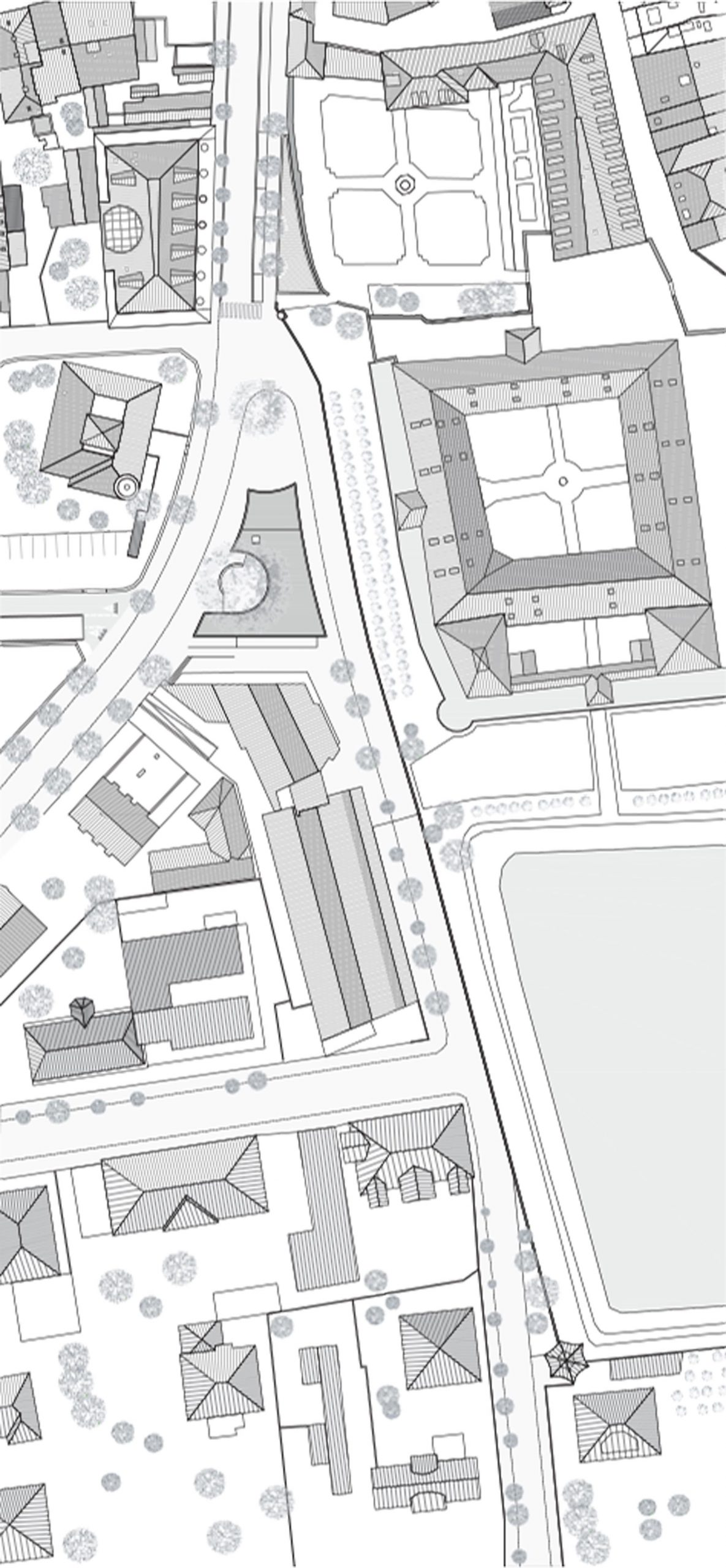 Planimetria della geometria della piazza