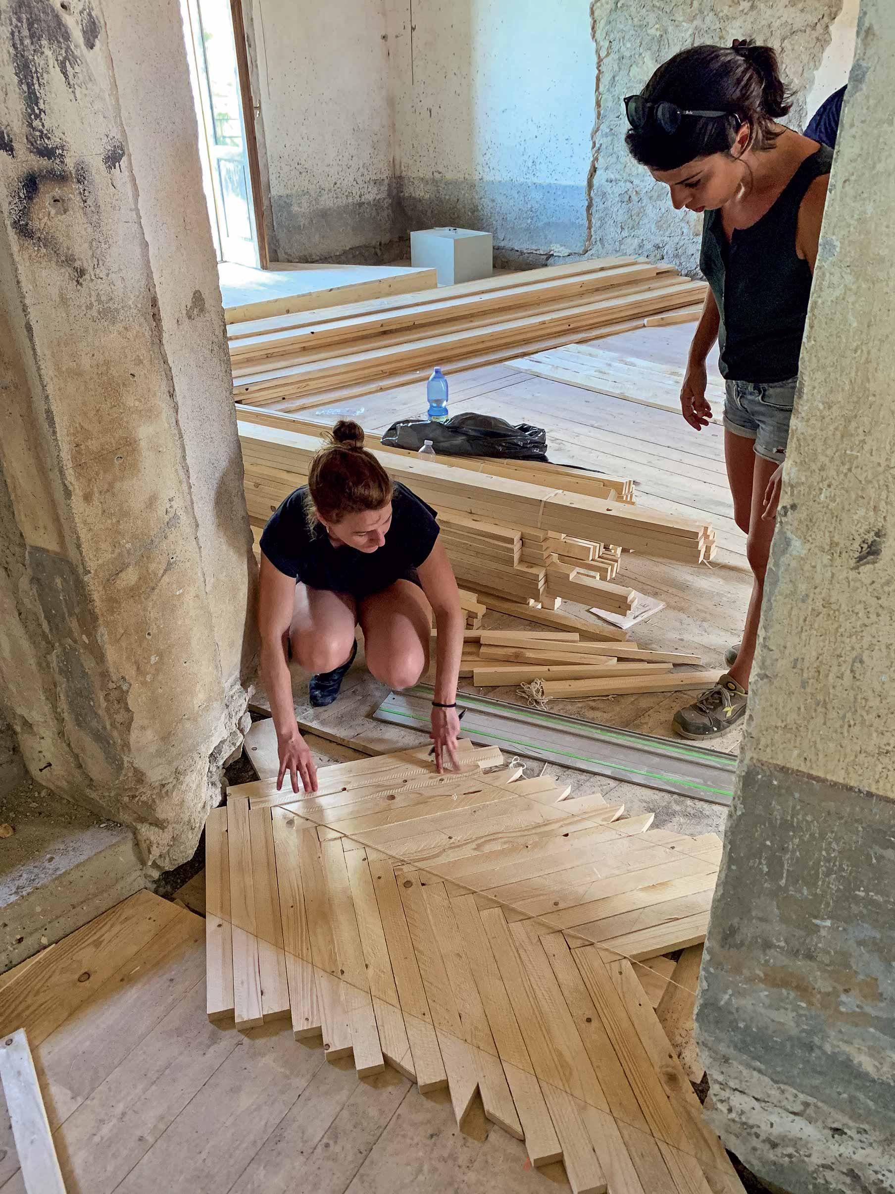 lavori di ristrutturazione casa di Belmondo
