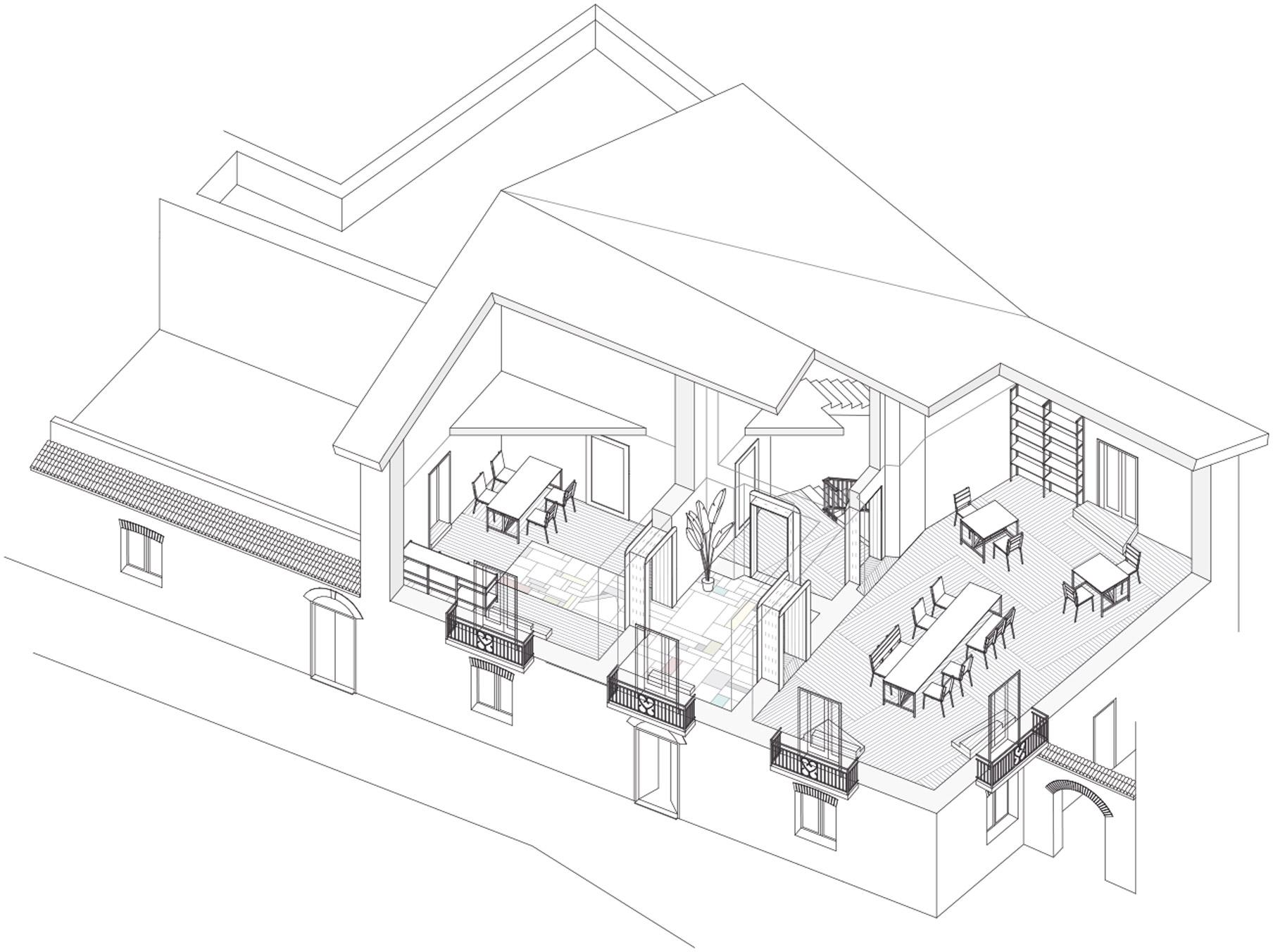disegni tecnici casa di Belmondo