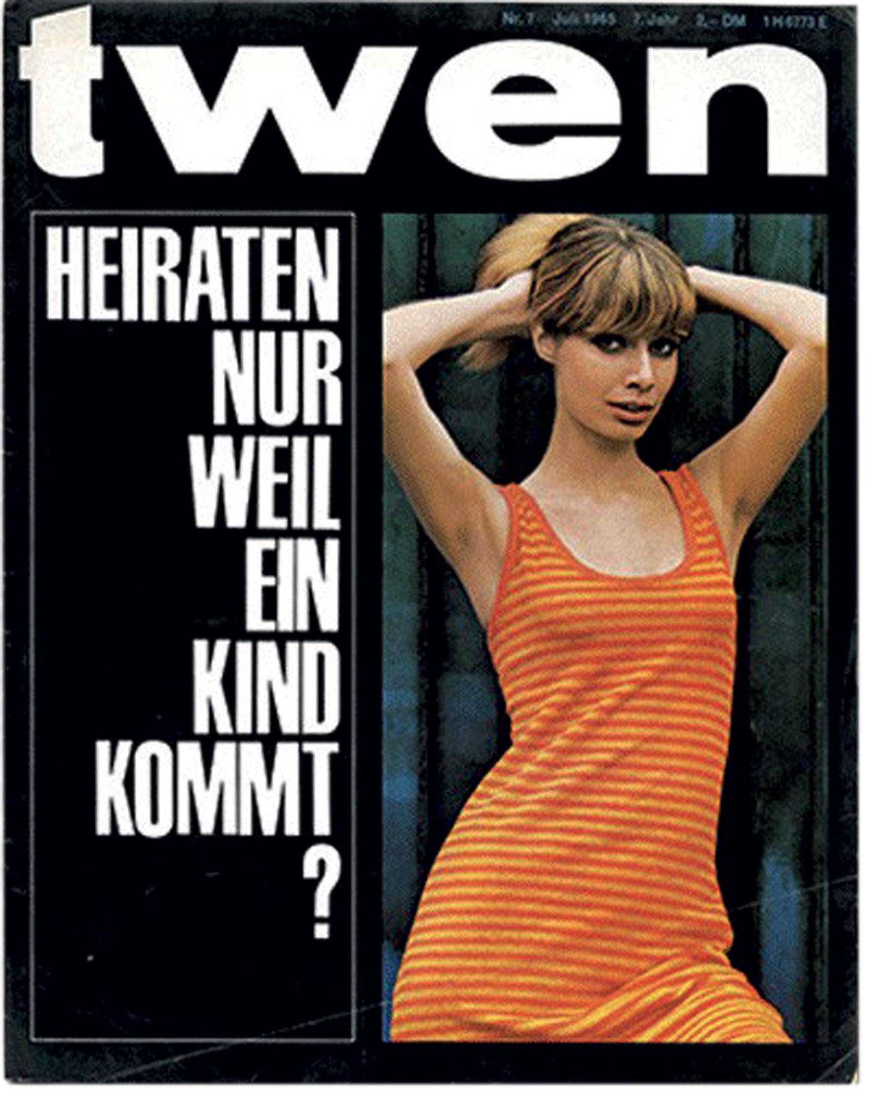 Copertina rivista Twen Italo Lupi