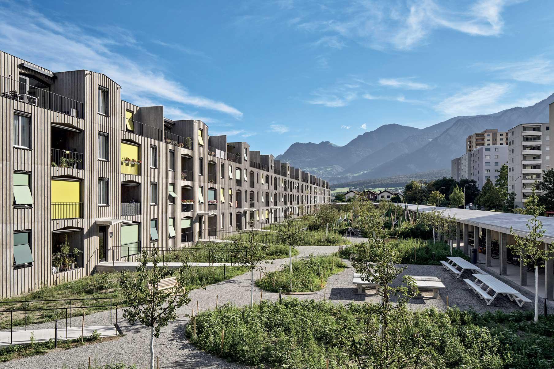 inquadramento dell'intero complesso residenziale