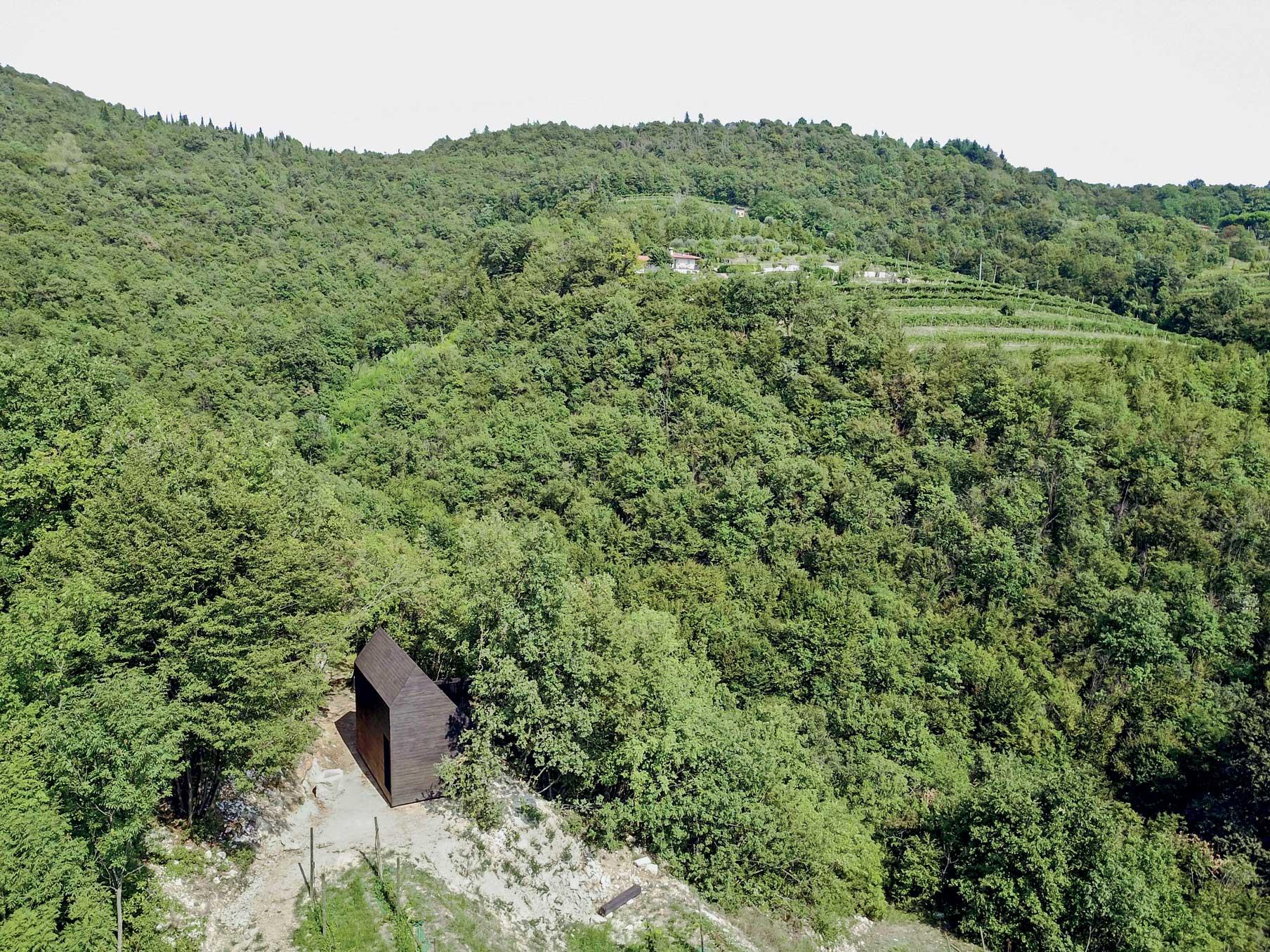 Veduta aerea sito della Cappella del Silenzio