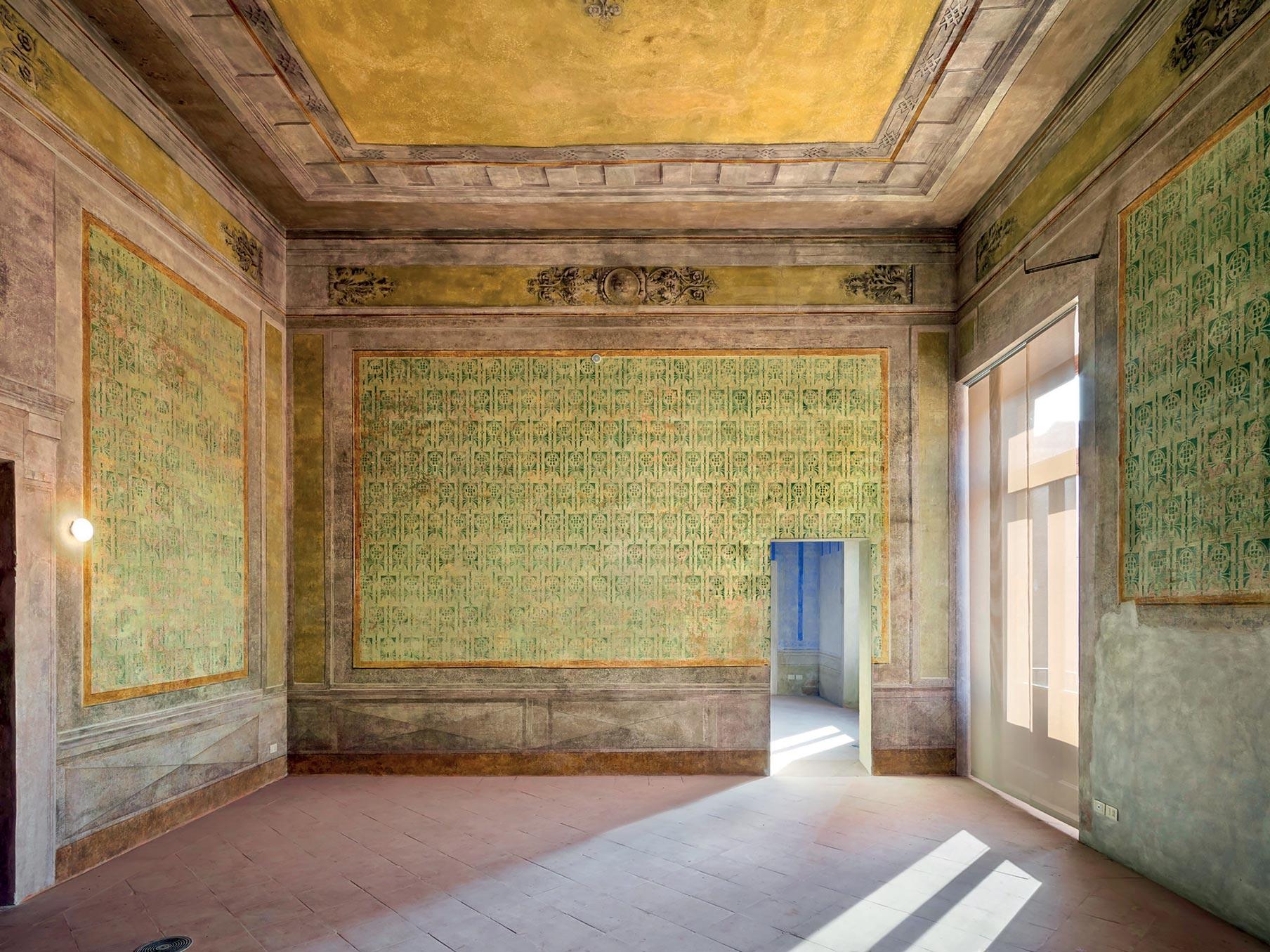 Veduta stanza palazzo ducale Guastalla