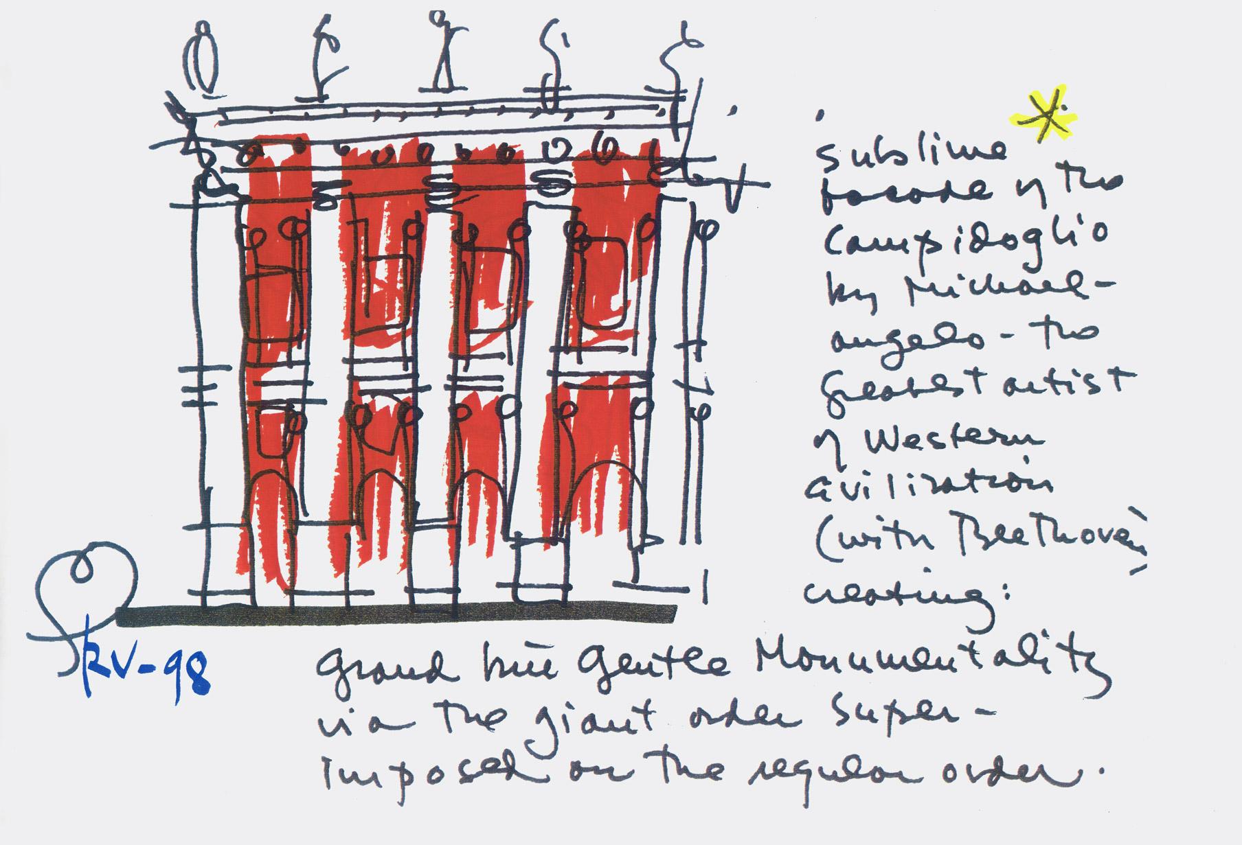 Schizzo n.4 di Robert Venturi